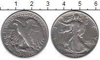 Изображение Монеты США 1/2 доллара 1943 Серебро VF