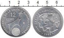 Изображение Монеты Испания 12 евро 2002 Серебро UNC
