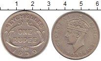 Изображение Монеты Сейшелы 1 рупия 1939 Серебро XF