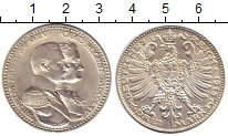 Изображение Монеты Саксен-Веймар-Эйзенах 3 марки 1915 Серебро UNC-