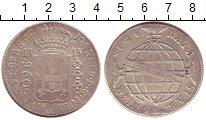 Изображение Монеты Бразилия 960 рейс 1815 Серебро XF-