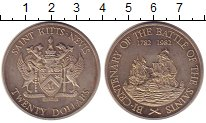 Изображение Монеты Сент Киттс-Невис 10 долларов 1982 Медно-никель UNC-