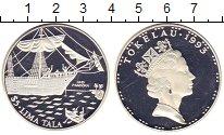 Изображение Монеты Токелау 5 тала 1993 Серебро Proof