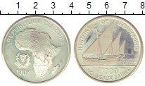 Изображение Монеты Заир 1000 заиров 1997 Серебро Proof- История мореплавания