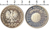 Изображение Монеты Польша 500 злотых 1986 Серебро Proof-