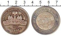 Изображение Монеты Гаити 50 гурдес 1977 Серебро Proof- Чемпионат мира по фу