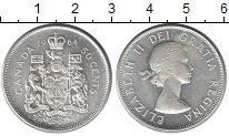 Изображение Монеты Канада 50 центов 1964 Серебро UNC Елизавета II.