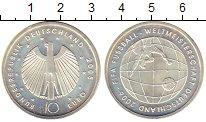 Изображение Монеты ФРГ 10 евро 2005 Серебро UNC- Чемпионат  мира  по