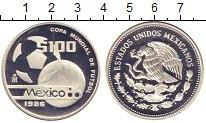 Изображение Монеты Мексика 100 песо 1986 Серебро Proof-
