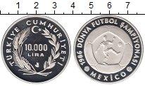 Изображение Монеты Турция 10000 лир 1986 Серебро Proof-