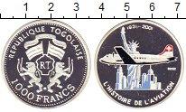 Изображение Монеты Того 1000 франков 2002 Серебро Proof-