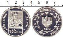 Изображение Монеты Андорра 10 динерс 1991 Серебро Proof-