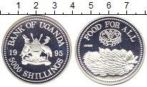 Изображение Монеты Уганда 5000 шиллингов 1995 Серебро Proof-