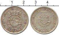 Изображение Монеты Ангола 10 эскудо 1955 Серебро XF