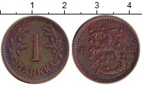Изображение Монеты Финляндия 1 марка 1941 Медь XF