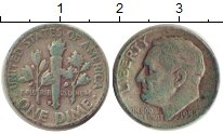 Изображение Монеты США 1 дайм 1952 Серебро XF