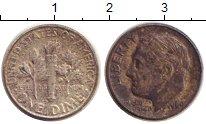 Изображение Монеты США 1 дайм 1964 Серебро XF