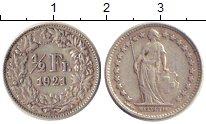 Изображение Монеты Швейцария 1/2 франка 1921 Серебро XF