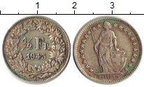 Изображение Монеты Швейцария 1/2 франка 1943 Серебро XF