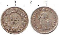 Изображение Монеты Швейцария 1/2 франка 1945 Серебро XF В