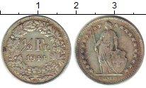 Изображение Монеты Швейцария 1/2 франка 1944 Серебро XF В