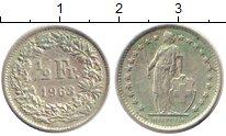 Изображение Монеты Швейцария 1/2 франка 1963 Серебро XF В