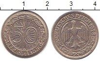 Изображение Монеты Веймарская республика 50 пфеннигов 1928 Медно-никель XF А