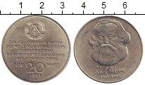 Изображение Монеты ГДР 20 марок 1983 Медно-никель XF Карл Маркс А