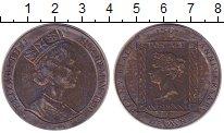 Изображение Монеты Остров Мэн 1 крона 1990 Медно-никель XF