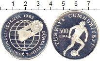 Изображение Монеты Турция 500 лир 1982 Серебро Proof-