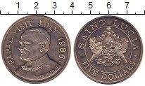 Изображение Монеты Сент-Люсия 5 долларов 1986 Медно-никель UNC