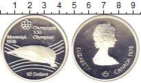 Изображение Монеты Канада 10 долларов 1976 Серебро Proof- Олимпиада 76 в Монре