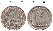 Изображение Монеты Швейцария 1 франк 1940 Серебро XF