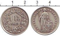 Изображение Монеты Швейцария 1 франк 1943 Серебро XF В