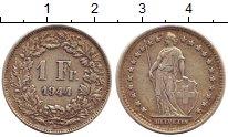 Изображение Монеты Швейцария 1 франк 1944 Серебро XF В