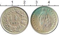 Изображение Монеты Швейцария 1 франк 1964 Серебро XF В