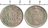 Изображение Монеты Швейцария 1 франк 1960 Серебро XF В