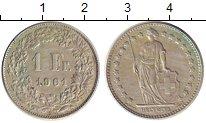 Изображение Монеты Швейцария 1 франк 1961 Серебро XF В