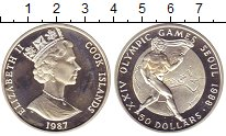 Изображение Монеты Острова Кука 50 долларов 1987 Серебро Proof-