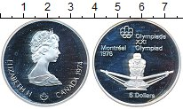 Изображение Монеты Канада 5 долларов 1974 Серебро Proof-