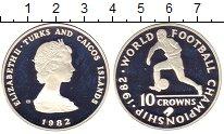 Изображение Монеты Великобритания Теркc и Кайкос 10 крон 1982 Серебро Proof-