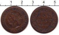 Изображение Монеты Канада 1 цент 1888 Медь XF