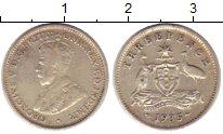 Изображение Монеты Австралия 3 пенса 1935 Серебро VF Георг V
