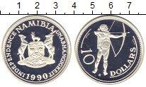 Изображение Монеты Намибия 10 долларов 1990 Серебро Proof-