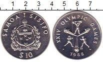 Изображение Монеты Самоа 10 тала 1988 Серебро UNC Олимпиада 88. Сеул