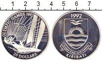 Изображение Монеты Кирибати 20 долларов 1992 Серебро Proof- Летние Олимпийские и