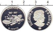 Изображение Монеты Канада 5 центов 2017 Серебро Proof