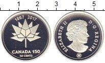 Изображение Монеты Канада 50 центов 2017 Серебро Proof