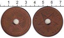 Изображение Монеты Бельгия Бельгийское Конго 10 сантим 1894 Медь XF+