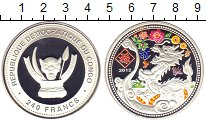 Изображение Монеты Конго 240 франков 2012 Серебро Proof